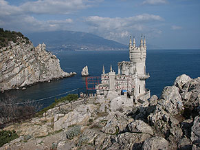 Swallow's Nest Castle. Yalta. The symbol of Crimea